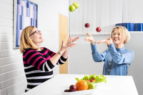"""<img src=""""fruits.jpg"""" alt=""""employees of medfiles' food & nutrition unit throwing fruits"""">"""